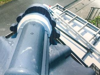 小工事 漆喰屋根の修繕