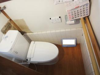 トイレリフォーム 入口の段差を軽減させ、負担のかからない洋式トイレに