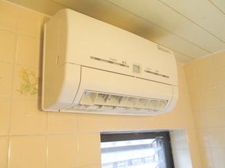 バスルームリフォーム 既存の換気口を利用した換気乾燥暖房機