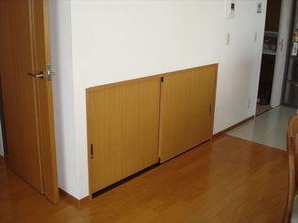 小工事 特注の建具で違和感のない収納スペースを実現