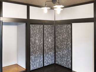 内装リフォーム レトロな色でまとめた和風のかっこいいお部屋