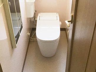 トイレリフォーム お掃除しやすくなる工夫を凝らしたトイレ