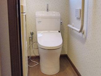 トイレリフォーム それぞれ違う雰囲気に仕上げた2ヵ所のトイレ